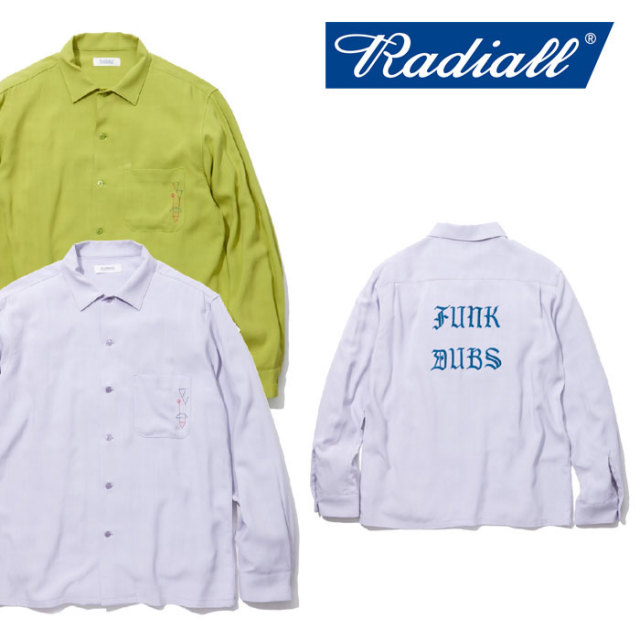 【SALE】 RADIALL(ラディアル) BOULEVADE OPEN COLLARED SHIRT L/S 【送料無料】【即発送可能】 【RADIALL シャツ】 【RAD-18SS