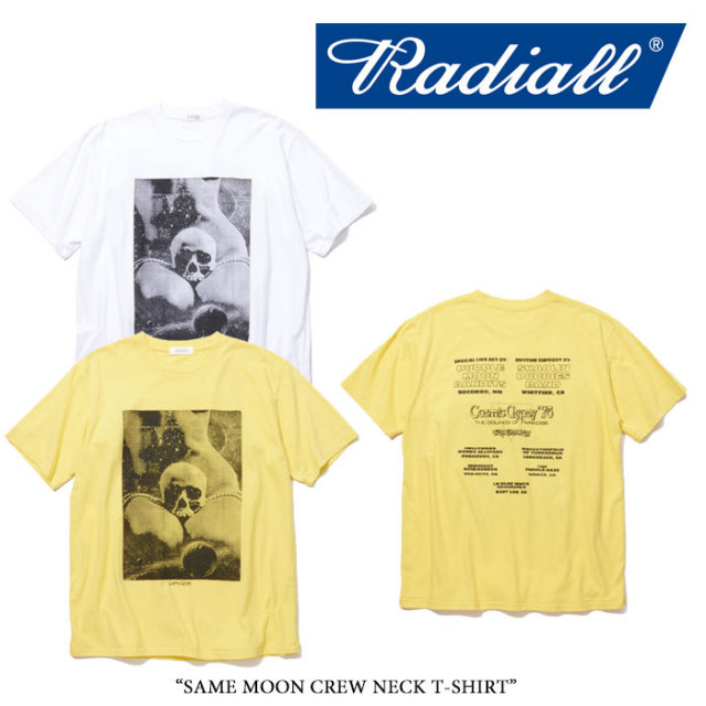 RADIALL(ラディアル) SAME MOON CREW NECK T-SHIRT 【2018 SPRING&SUMMER新作】 【即発送可能】 【RAD-18SS-TEE014】