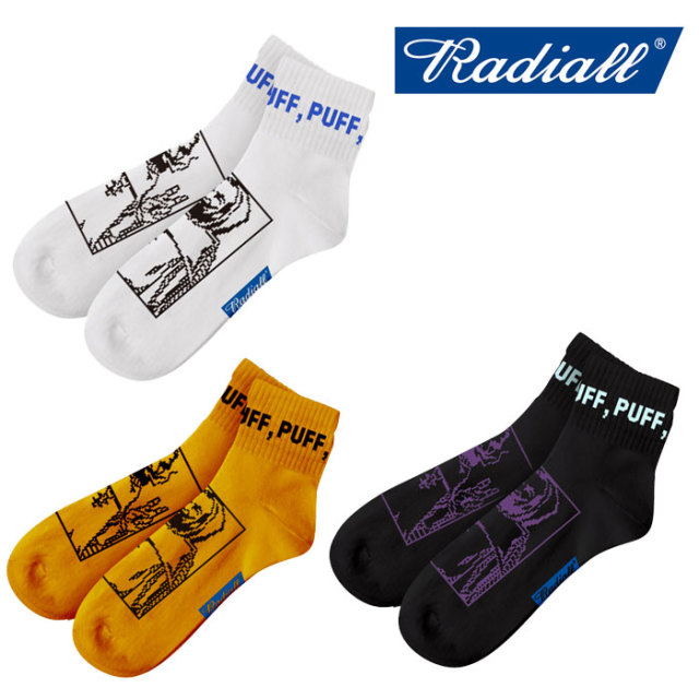 RADIALL(ラディアル) 2PAC SOX PASS MIDDLE 【2018 SPRING&SUMMER SPOT】 【RADIALL ソックス】 【RAD-PAC030】