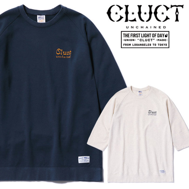 CLUCT(クラクト) 3/4 CREWNECK SWEAT 【2019SPRING新作】【送料無料】 【#02930】【スウェット】【七分袖】