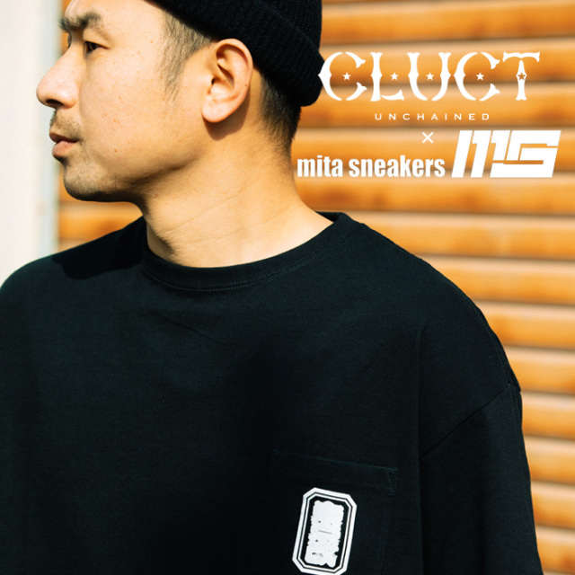 "CLUCT(クラクト) 東京改 S/S PKT BIG TEE ""mita sneakers"" 【2019 LIMITED EDITION】【#02978】【Tシャツ】"
