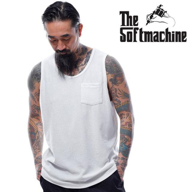 SOFTMACHINE(ソフトマシーン) BAJA TANK 【タンクトップ】【ホワイト ブラック タトゥー】【2020SUMMER VACATION先行予約】【キャ
