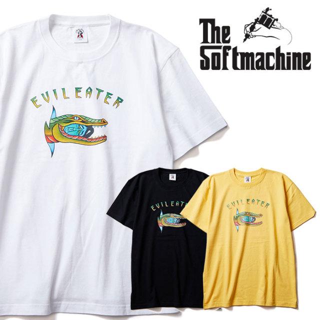 SOFTMACHINE(ソフトマシーン) EVIL EATER-T 【Tシャツ 半袖】【ホワイト ブラック イエロー タトゥー】【2020SUMMER VACATION先行