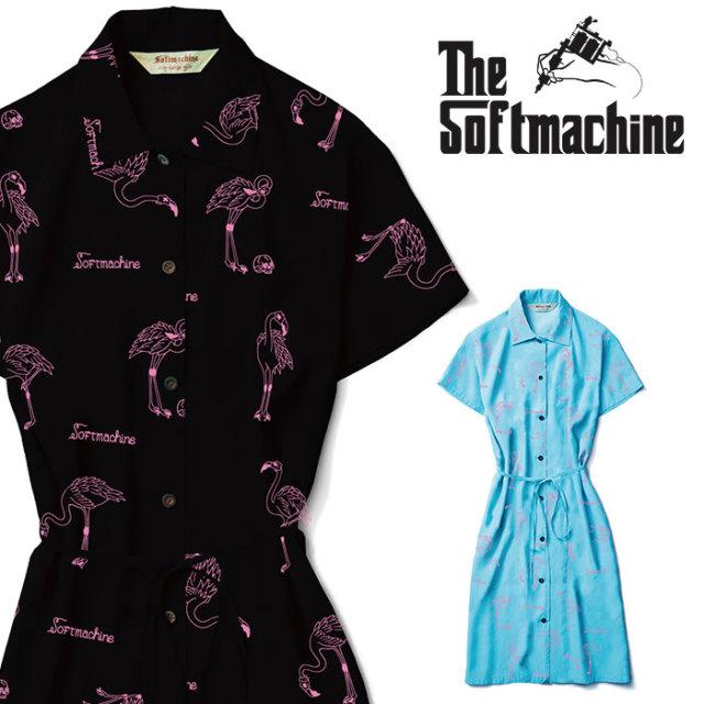 SOFTMACHINE(ソフトマシーン) FLAMMA DRESS 【ワンピース レディース】【ブラック ブルー タトゥー】【2020SUMMER VACATION先行予