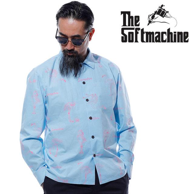SOFTMACHINE(ソフトマシーン) FLAMMA SHIRTS L/S 【シャツ 長袖】【ブラック ブルー タトゥー】【2020SUMMER VACATION先行予約】【