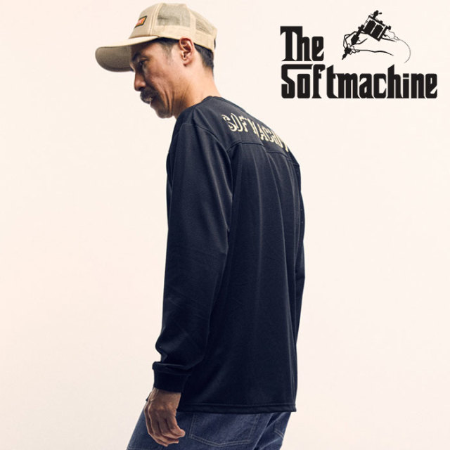 SOFTMACHINE(ソフトマシーン) FORMATION L/S(MESH L/S FOOTBALL T-SHIRTS) 【2019SPRING&SUMMER先行予約】【キャンセル不可】【フ