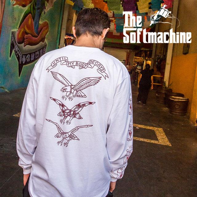 SOFTMACHINE(ソフトマシーン) FRY L/S 【ロングスリーブTシャツ 長袖】【ホワイト ブラック チャコール タトゥー】【2020SUMMER VA