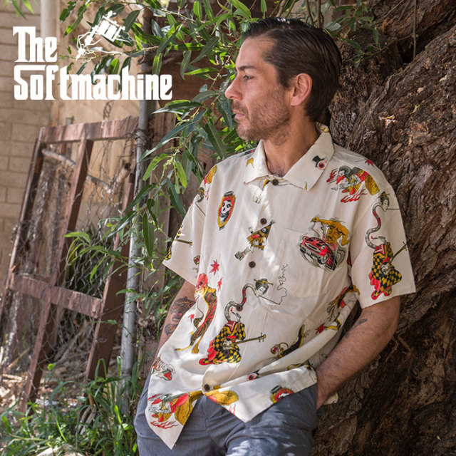SOFTMACHINE(ソフトマシーン) GHOST LAND SHIRTS S/S 【シャツ 半袖】【ホワイト タトゥー】【2020SUMMER VACATION先行予約】【キ