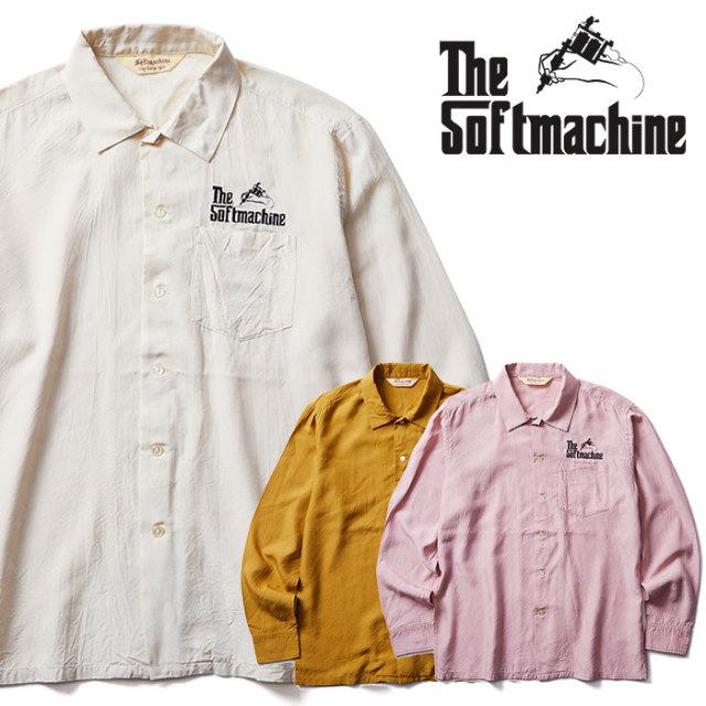 SOFTMACHINE(ソフトマシーン) GOD SHIRTS L/S 【シャツ 長袖】【ホワイト イエロー ピンク タトゥー】【2020SUMMER VACATION先行予