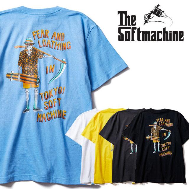 SOFTMACHINE(ソフトマシーン) GONZO-T 【Tシャツ 半袖】【ホワイト ブラック イエロー ブルー タトゥー】【2020SUMMER VACATION先