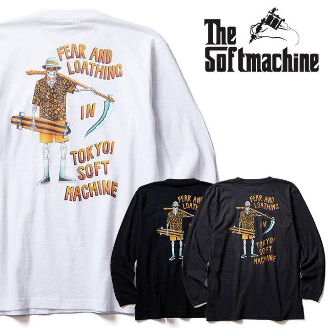 SOFTMACHINE(ソフトマシーン) GONZO L/S 【ロングスリーブTシャツ 長袖】【ホワイト ブラック チャコール タトゥー】【2020SUMMER