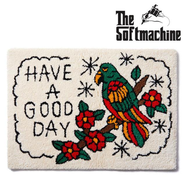 SOFTMACHINE(ソフトマシーン) GOOD DAY RUG 【ラグ】【ホワイト タトゥー TATOO おしゃれ】【2020SUMMER VACATION先行予約】【キャ