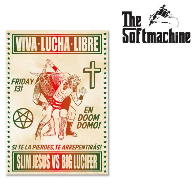 SOFTMACHINE(ソフトマシーン) LUCHA POSTER 【ポスター フラッシュ タトゥー TATTOO インテリア おしゃれ】【2020SUMMER VACATION