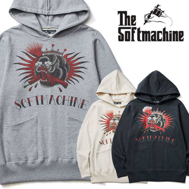 SOFTMACHINE(ソフトマシーン)  NOTORIOUS HOODED(SWEAT PARKA) 【2019SPRING&SUMMER新作】【スウェット パーカー】