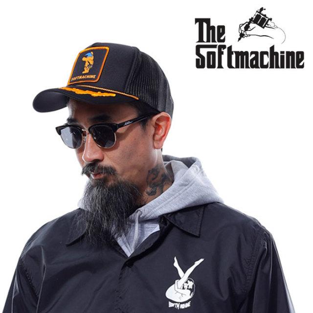 SOFTMACHINE(ソフトマシーン) NO WAY CAP 【メッシュキャップ】【ブラック タトゥー】【2020SUMMER VACATION先行予約】【キャンセ