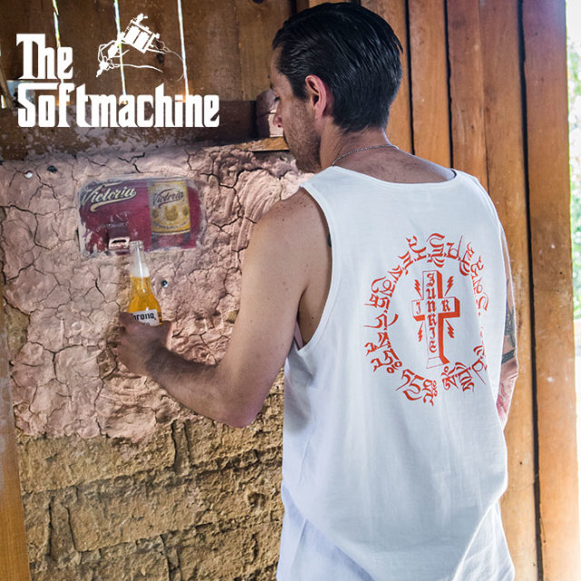 SOFTMACHINE(ソフトマシーン) OTHER WORLD TANK 【タンクトップ】【ホワイト ブラック タトゥー】【2020SUMMER VACATION先行予約】