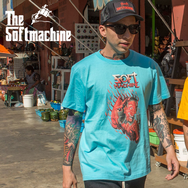 SOFTMACHINE(ソフトマシーン) PARANOID-T 【Tシャツ 半袖】【ホワイト ブラック イエロー タトゥー】【2020SUMMER VACATION先行予