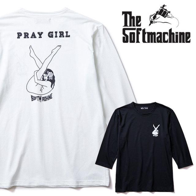 SOFTMACHINE(ソフトマシーン) PRAY GIRL-FT 【3/4スリーブTシャツ】【ホワイト ブラック タトゥー】【2020SUMMER VACATION先行予約