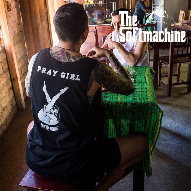 SOFTMACHINE(ソフトマシーン) PRAY GIRL TANK 【タンクトップ】【ホワイト ブラック タトゥー】【2020SUMMER VACATION先行予約】【