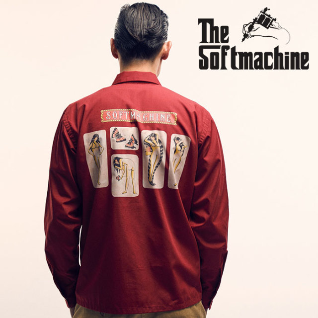 SOFTMACHINE(ソフトマシーン) RED LIGHT SHIRTS(L/S SHIRTS) 【2019SPRING&SUMMER新作】【シャツ】