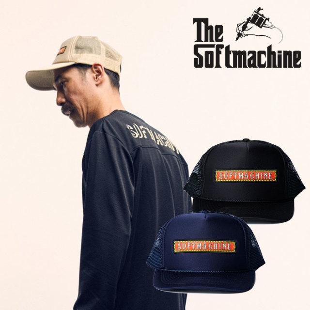 SOFTMACHINE(ソフトマシーン) RED LIGHT SIGN CAP 【2019SPRING&SUMMER新作】【メッシュキャップ 帽子】