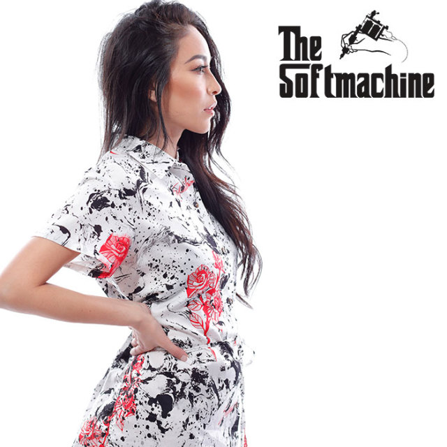SOFTMACHINE(ソフトマシーン) RED ROSES DRESS 【ワンピース レディース】【ホワイト タトゥー】【2020SUMMER VACATION先行予約】
