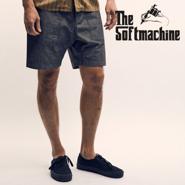 SOFTMACHINE(ソフトマシーン) SMITH CHAMBRAY SHORTS(SHORT BAKER PANTS) 【2019SPRING&SUMMER先行予約】【キャンセル不可】【ベイ