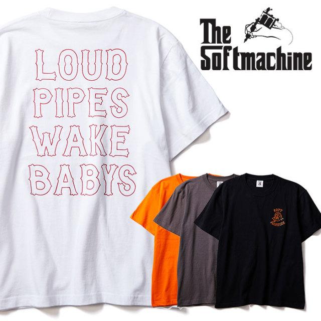 SOFTMACHINE(ソフトマシーン) WAKE BABYS-T 【Tシャツ 半袖】【ホワイト ブラック オレンジ タトゥー】【2020SUMMER VACATION先行