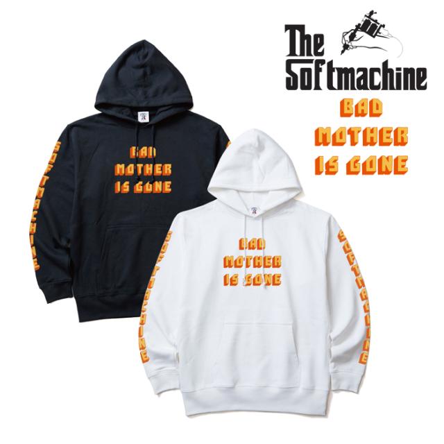 SOFTMACHINE(ソフトマシーン) BAD MOTHER HOODED 【パーカー フード スウェット】【ホワイト ブラック タトゥー】【2019AUTUMN&WIN