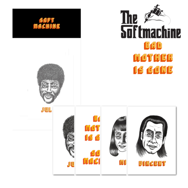 SOFTMACHINE(ソフトマシーン) BAD MOTHER STICKER 【ステッカー シール タトゥー】【2019AUTUMN&WINTER SPOT】【BAD MOTHER IS GON