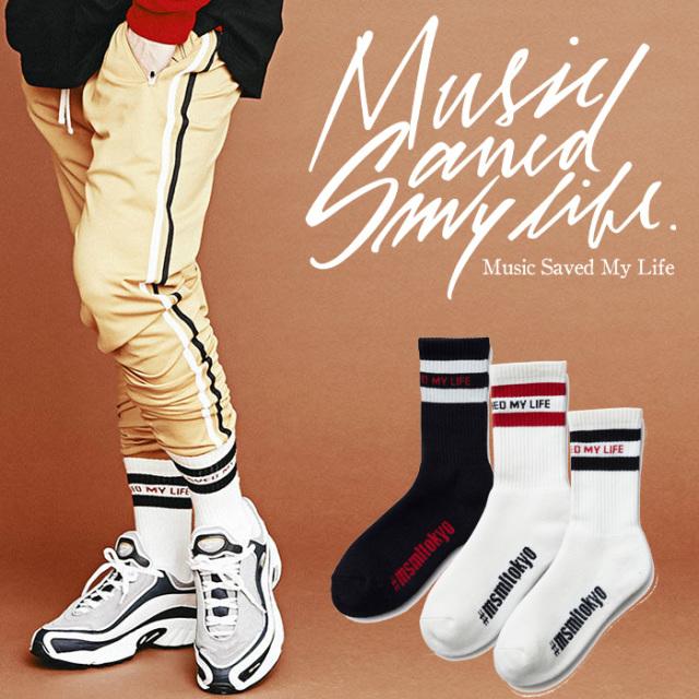MSML(MUSIC SAVED MY LIFE) LINE SOX 【2018-19WINTER新作】【即発送可能】 【M1H5T-AC01】【ラインソックス】