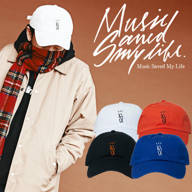 MSML(MUSIC SAVED MY LIFE) DAD CAP 【2018-19WINTER新作】【即発送可能】 【M1H5T-CP01】【ロゴ キャップ】