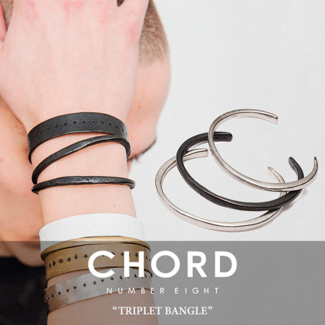 CHORD NUMBER EIGHT(コードナンバーエイト)  TRIPLET BANGLE 【2019SPRING/SUMMER先行予約】 【キャンセル不可】【送料無料】 【