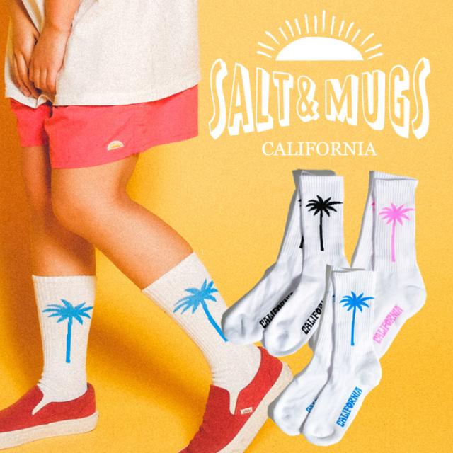 SALT&MUGS(ソルトアンドマグズ) TROPACAL SOCKS 【ソックス 靴下】【ロサンゼルス】【SMGD007】