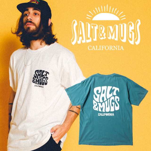 SALT&MUGS(ソルトアンドマグズ) PSYCHEDELIC LOGO TEE 【Tシャツ、半袖】【ロサンゼルス】【SMSST001】