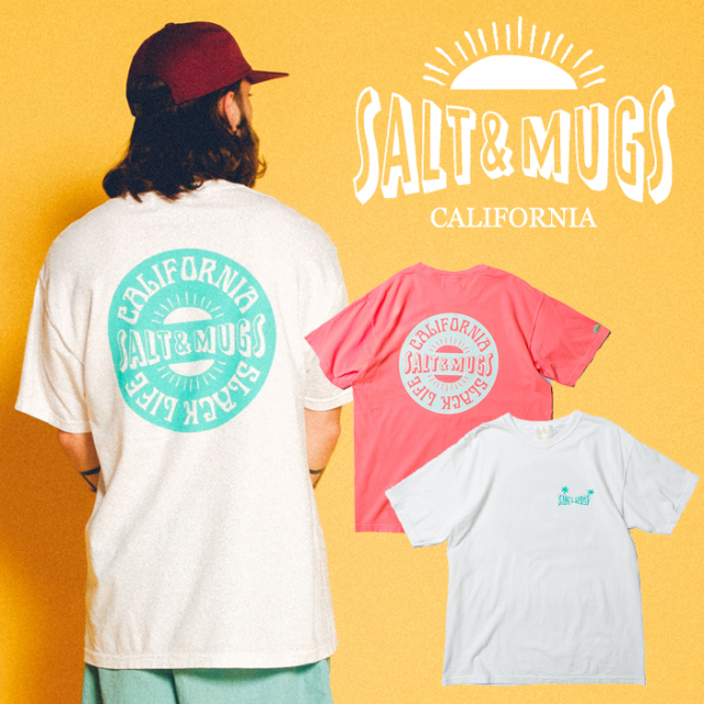 SALT&MUGS(ソルトアンドマグズ) NEW LOGO TEE 【Tシャツ、半袖】【ロサンゼルス】【SMSST002】