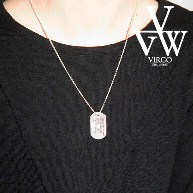VIRGO ヴァルゴ バルゴ VGW TAG 925 【ネックレス】【ドッグタグ】【2019 LATE FALL&WINTER新作】【VG-GD-611】