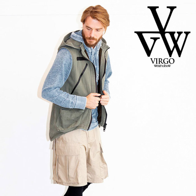VIRGO ヴァルゴ バルゴ CRAZY MOTH VEST 【2019 LATE FALL&WINTER先行予約】 【VG-JKT-207】【キャンセル不可】【ベスト】