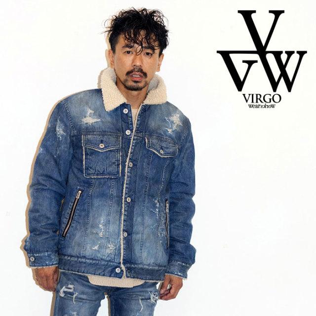 【SALE30%OFF】 VIRGO ヴァルゴ ジャケット BOA DENIM JKT VG 【ボア デニムジャケット】【インディゴ おしゃれ】【セール】【送