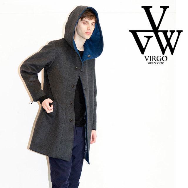 【SALE30%OFF】 VIRGO ヴァルゴ ジャケット SNAILS WOOL HOODED COAT 【セール】【ウールフードコート】【VG-JKT-210】【2019 LAT