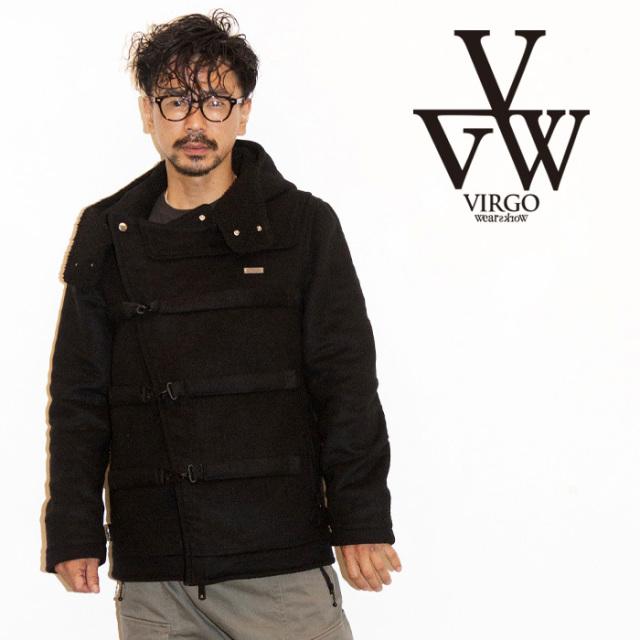 VIRGO ヴァルゴ ジャケット REFRACTION DUFFLE MID 【ダッフルコート ジャケット ブラック おしゃれ】【送料無料】 【2019 LATE F