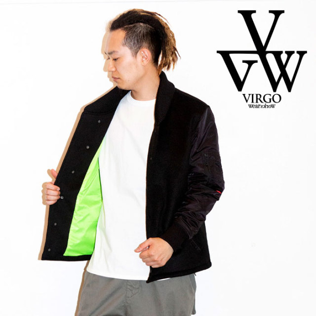 VIRGO ヴァルゴ バルゴ FORCE VARSITY JKY 【2019 LATE FALL&WINTER先行予約】 【VG-JKT-212】【キャンセル不可】【スタジャン】