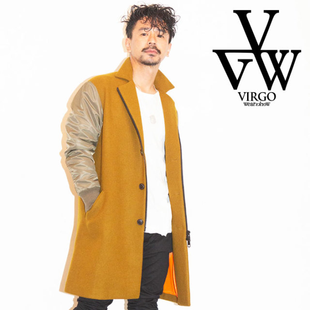 VIRGO ヴァルゴ バルゴ FORCE CHESTERS JKT 【チェスターコート】【送料無料】【VG-JKT-213】【2019 LATE FALL&WINTER新作】