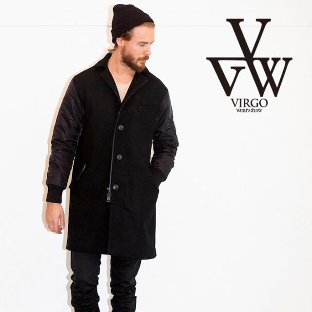 【SALE30%OFF】 VIRGO ヴァルゴ ジャケット FORCE CHESTERS JKT 【チェスターコート ロングコート】【ブラック 黒】【セール】【V