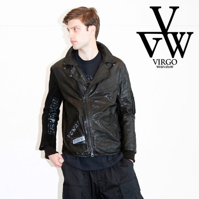 VIRGO ヴァルゴ バルゴ SPECIAL PROCESSED LEATHER JACKET 【レザージャケット】【ラムレザー】【VG-JKT-215】【2019 LATE FALL&WI