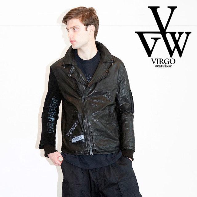 VIRGO ヴァルゴ バルゴ SPECIAL PROCESSED LEATHER JACKET 【2019 LATE FALL&WINTER先行予約】 【VG-JKT-215】【キャンセル不可】