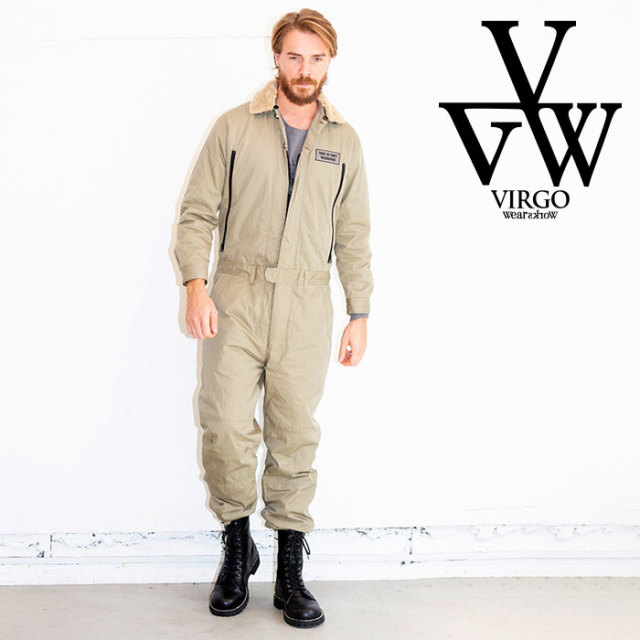 VIRGO ヴァルゴ バルゴ VGW WINTER JUMP SUIT 【2019 LATE FALL&WINTER先行予約】 【VG-JKT-219】【キャンセル不可】【ツナギ】【