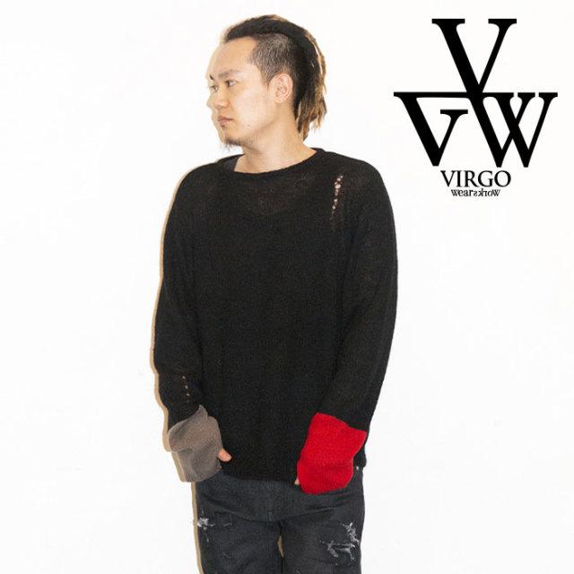 VIRGO ヴァルゴ バルゴ W CAT HAND KNIT 【2019 LATE FALL&WINTER先行予約】 【VG-KNIT-81】【キャンセル不可】【ニット】