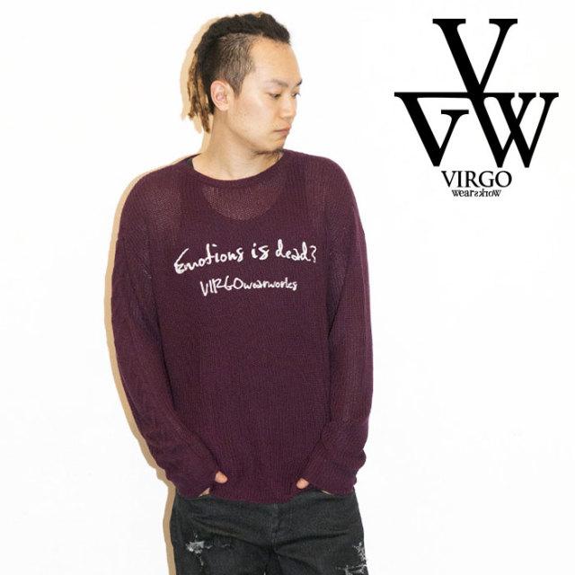 VIRGO ヴァルゴ バルゴ EMOTION KNIT 【2019 LATE FALL&WINTER先行予約】 【VG-KNIT-82】【キャンセル不可】【ニット】