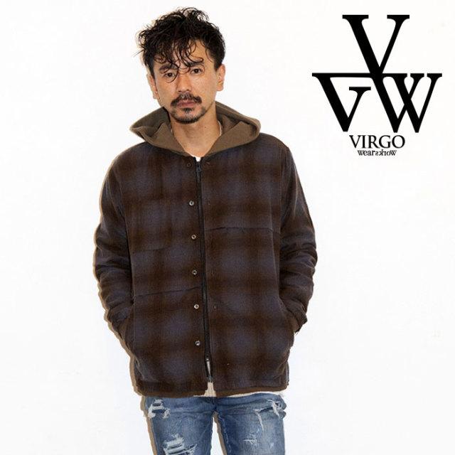 VIRGO ヴァルゴ バルゴ 2WAY HOOD CHECK SHIRT 【2019 LATE FALL&WINTER先行予約】 【VG-SH-209】【キャンセル不可】【シャツ】
